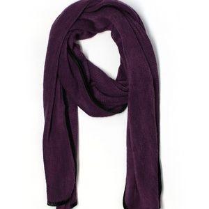 😸5/$25 Wide Purple Chenille Winter Scarf w Trim
